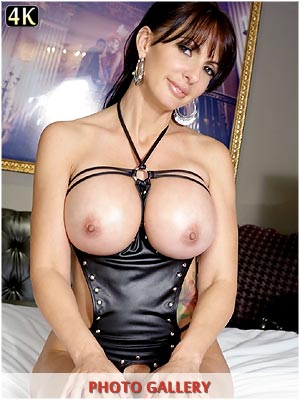Catalina Cruz leather fetish showing her huge boobs