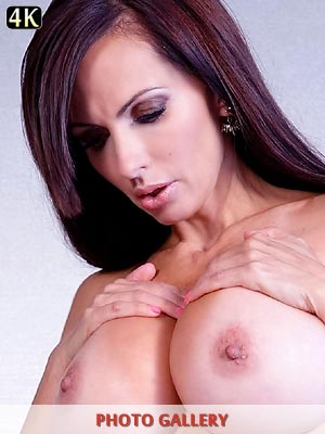 Catalina Cruz and her large breasts sexy in matching bra and panties