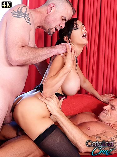 Catalina Cruz dp desires finally happen for the first time anal sex