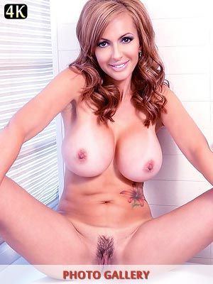 Catalina Cruz large beautiful breasts hanging while masturbating in the tub