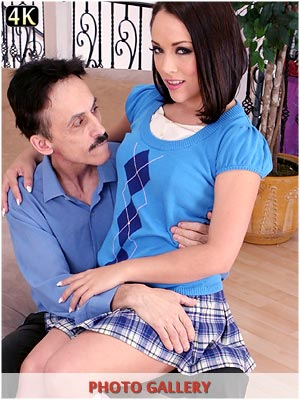 Kristina Rose schoolgirl gets a good spanking and punishment