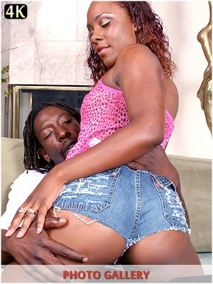 Black girl with her fat ass oiled up Ms Platinum and fucking