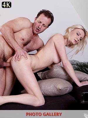 Billie Star getting her tight pussy slammed by an older porn stud