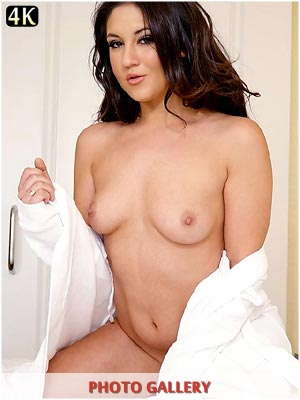 Kylie Kalvetti naked in bed fucking her pussy with fingers