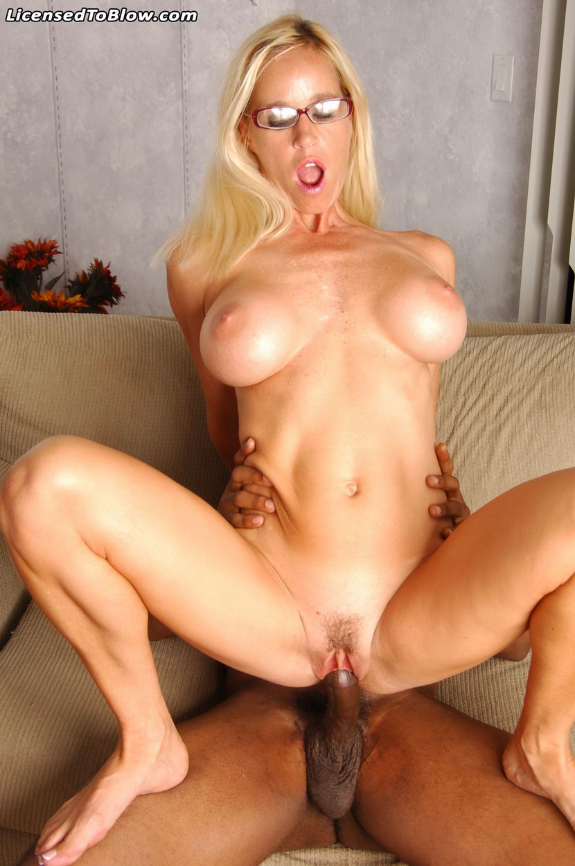 image White milf loves fucking herself with long fat thick black dildo needs big