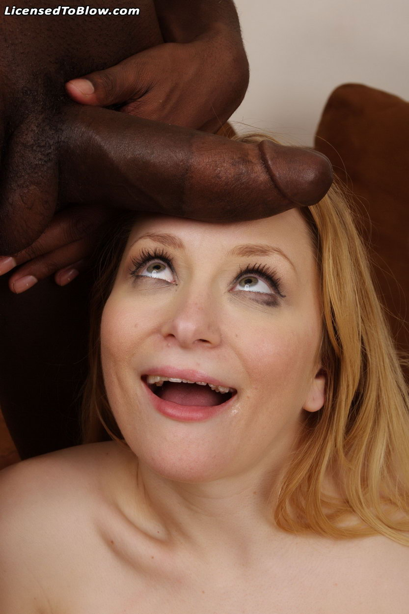 Aiden Starr shocked by the size of this black cock in her mouth ...