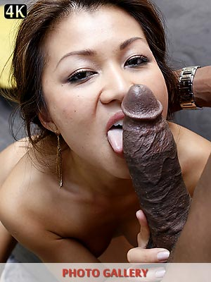 Jackie Lin making love to a long black cock and getting punished