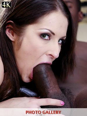 Chelsie Rae getting a big mouthful of some black dick interracial