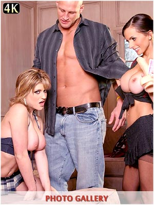 Tyla Wynn face fucking huge cock with Catalina Cruz