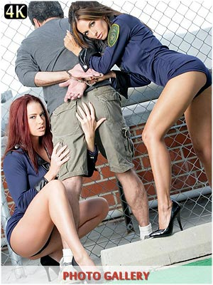 Hot lesbian cops Catalina Cruz with Victoria Red fucking